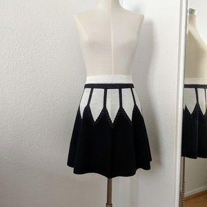 NWT Bebe Black and White Circle Skirt